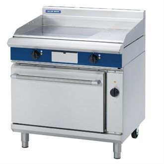 Blue Seal Evolution Chrome 1/3 Ribbed Griddle Convection Oven Electric 900mm EPE56 GK576
