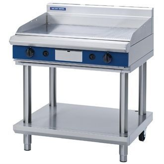 Blue Seal Evolution Chrome 1/3 Ribbed Griddle with Leg Stand LPG 900mm GP516-LS/L GK439-P