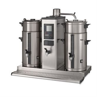 Bravilor B10 HW Bulk Coffee Brewer with 2x10Ltr Coffee Urns and Hot Water Tap DC690-1P