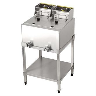 Buffalo Double Tank Fryer with Stand 2x8Ltr SA338