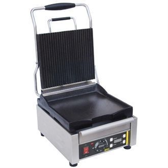 Buffalo Single Contact Grill Ribbed Top L511
