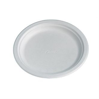 Disposable Round Plate White 240mm CM149