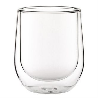 Double walled Latte Glass 270ml CP883