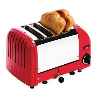 Dualit 4 Slice Vario Toaster Red 40353 GD394