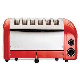 Dualit 6 Slice Vario Toaster Red 60154 GD395