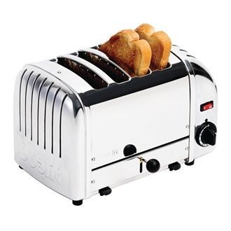 Dualit Bread Toaster 4 Slice Stainless 40352 F209