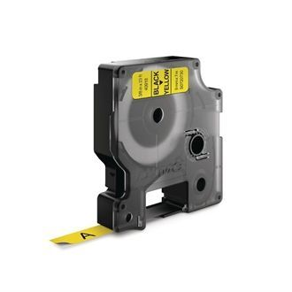 DYMO D1 Tape refill 9mm Black on Yellow CR232