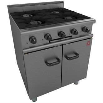 Falcon 350 Series 4 Burner Gas Oven Range on Legs Natural Gas G350/1 GP119-N