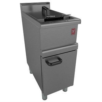 Falcon 350 Series Freestanding Single Pan Twin Basket Gas Fryer Natural Gas G350/11 GP126-N