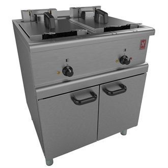 Falcon 350 Series Freestanding Twin Pan Four Basket Electric Fryer E350/37 GM149