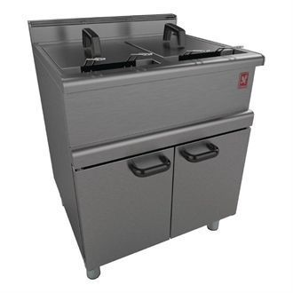 Falcon 350 Series FreeStanding Twin Pan Twin Basket Gas Fryer Legs Nat G350/12 GP127-N