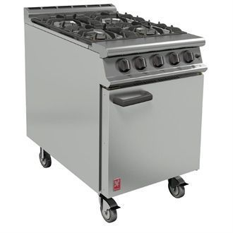 Falcon 4 Burner Dominator Plus Oven Range G3161 Propane Gas with Castors DK943-P