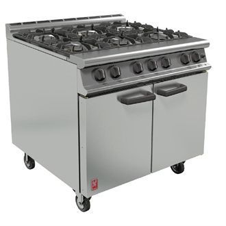 Falcon 6 Burner Dominator Plus Oven Range G3101 Propane Gas with Castors DK941-P