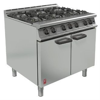 Falcon 6 Burner Dominator Plus Oven Range G3101 Propane Gas with Feet DK940-P
