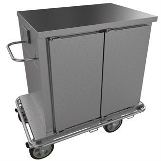 Falcon Chieftain 2 Door Heated Trolley with Flat Top T2 GM178