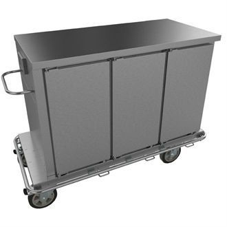 Falcon Chieftain 3 Door Heated Trolley with Flat Top T3 GM179