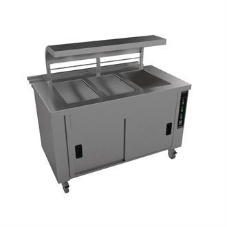 Falcon Chieftain 3 Well Heated Servery Counter with Trayslide HS3 GM189