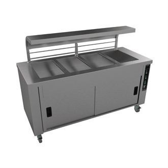 Falcon Chieftain 4 Well Heated Servery Counter HS4 GM190
