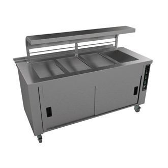 Falcon Chieftain 4 Well Heated Servery Counter with Trayslide HS4 GM191