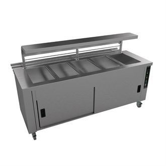 Falcon Chieftain 5 Well Heated Servery Counter with Trayslide HS5 GM193