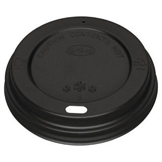 Fiesta Black Lid for Coffee Cups 12-16oz 50 Pack CW717