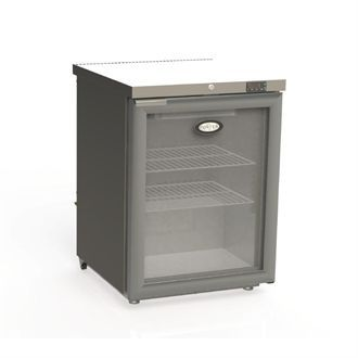 Foster 1 Glass Door 150Ltr Under Counter Fridge with Light HR150 13/109 CW733-SCL