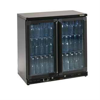 Gamko Bottle Cooler - Double Hinged Door 250 Ltr Black CE553