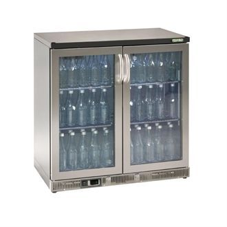 Gamko Bottle Cooler - Double Hinged Door 250 Ltr Stainless Steel CE559