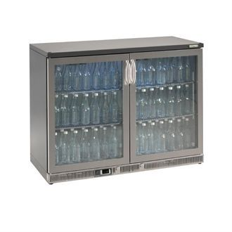 Gamko Bottle Cooler - Double Hinged Door 275 Ltr Stainless Steel CE560