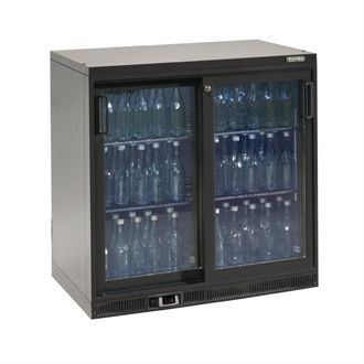 Gamko Bottle Cooler - Double Sliding Door 250 Ltr CE552