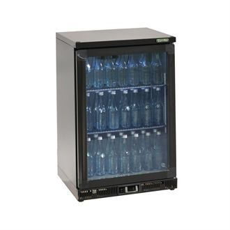Gamko Bottle Cooler - Single Hinged Door 150 Ltr Black CE550