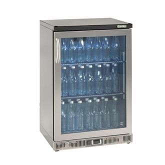 Gamko Bottle Cooler - Single Hinged Door 150 Ltr Stainless Steel CE558