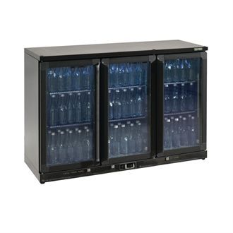 Gamko Bottle Cooler - Triple Hinged Door 315 Ltr Black CE556