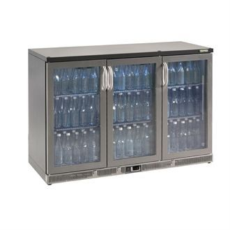 Gamko Bottle Cooler - Triple Hinged Door 315 Ltr Stainless Steel CE561