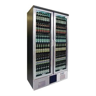 Gamko Upright Bottle Cooler - Double Hinged Door 500 Ltr Stainless Steel CE566