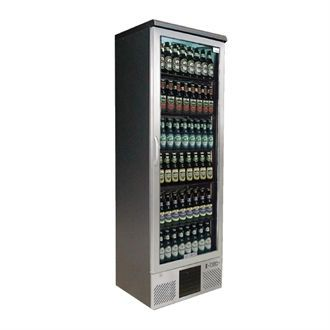 Gamko Upright Bottle Cooler - Single Hinged Door 300 Ltr Stainless Steel CE565