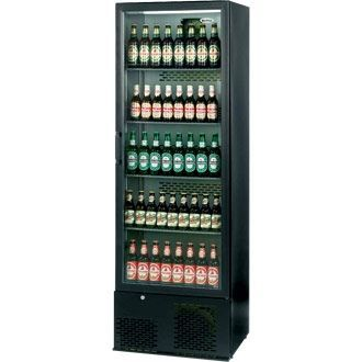Infrico Upright Back Bar Cooler with Hinged Door in Black ZX10 CC606