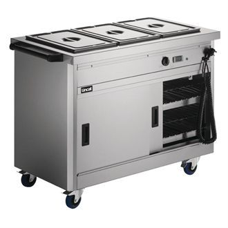 Lincat Panther 670 Series Hot Cupboard with Bain Marie P6B3 GJ575