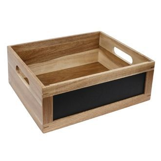 Olympia Bread Crate with Chalkboard 1/2 GN CL191