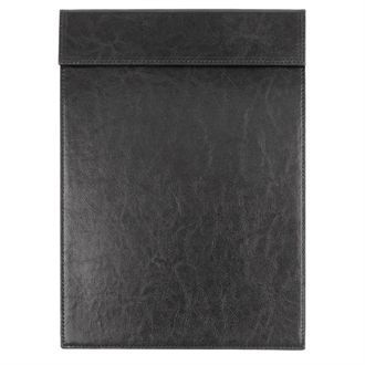 Olympia Leatherette Magnetic Menu Holder Black A4 CM488