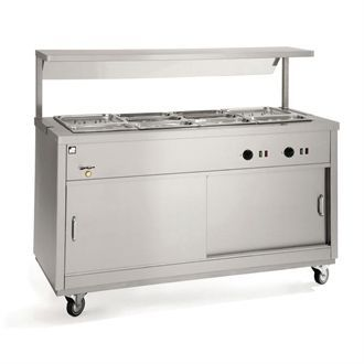Parry Bain Marie Topped Mobile Hot Cupboard HOT12BM GM789