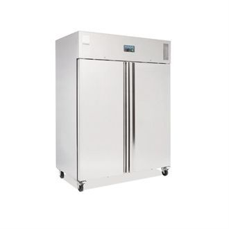 Polar Heavy Duty Double Door Freezer Stainless Steel 1300Ltr U635