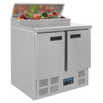 Polar Refrigerated Pizza and Salad Prep Counter 254Ltr G604