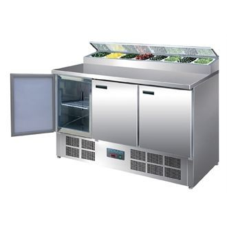 Polar Refrigerated Pizza and Salad Prep Counter 390Ltr G605