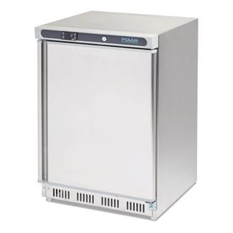 Polar Undercounter Fridge Stainless Steel 150Ltr CD080