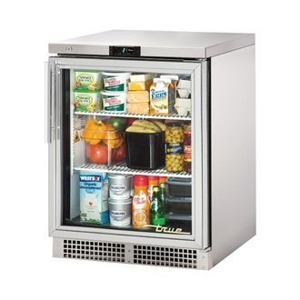 True 1 Glass Hinged Door Under Counter Fridge TUC-24-G-HC CK307