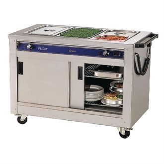 Victor Mobile Crown Bain Marie Hot Cupboard BM30MS T718