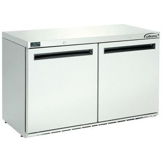 Williams Double Door Under Counter Fridge Stainless Steel 280Ltr HA280-SA DP494
