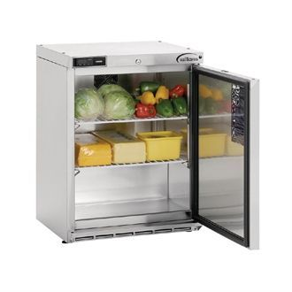 Williams Single Door Undercounter Fridge Stainless Steel 133Ltr HA135-SA DP490